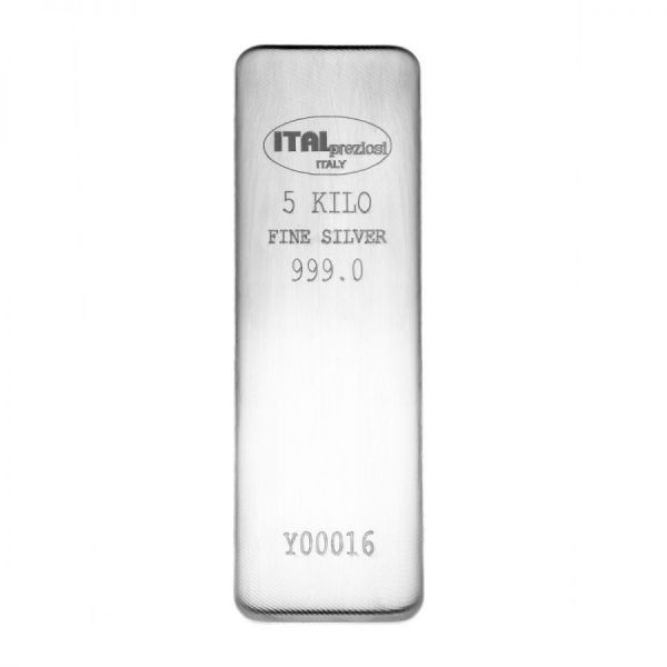 Lingotto Argento 1 kg - verticale - Italpreziosi