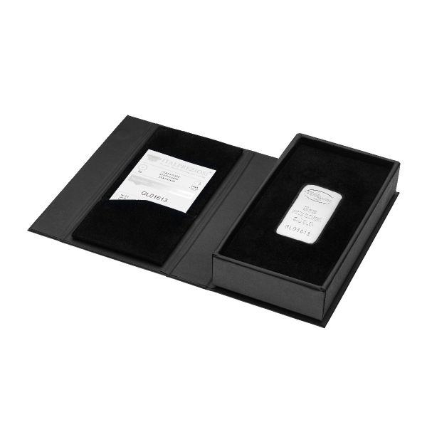 Lingotto Argento 5 once - box aperta - Italpreziosi