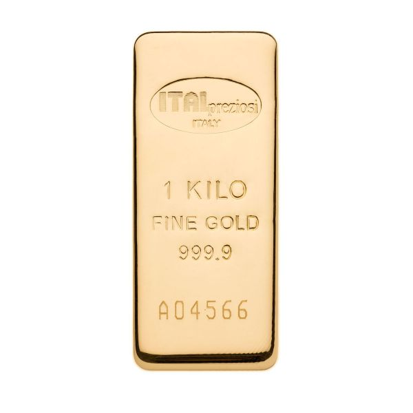 Lingotto Oro 1 kg - verticale - Italpreziosi