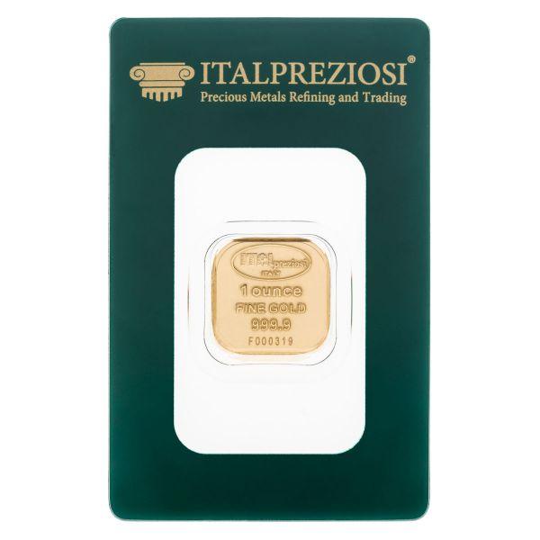 Lingotto Oro 1 Oncia - blister fronte - Italpreziosi