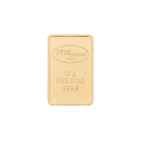 Lingotto oro 10 grammi - verticale - Italpreziosi