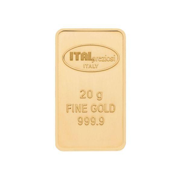 Lingotto Oro 20 grammi - verticale - Italpreziosi