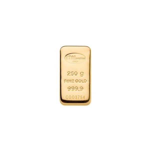Lingotto Oro 250 grammi - verticale - Italpreziosi