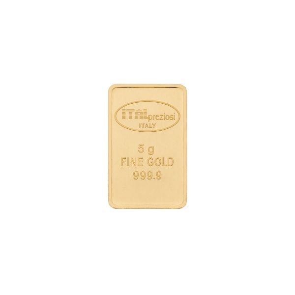 Lingotto Oro 5 grammi - verticale - Italpreziosi