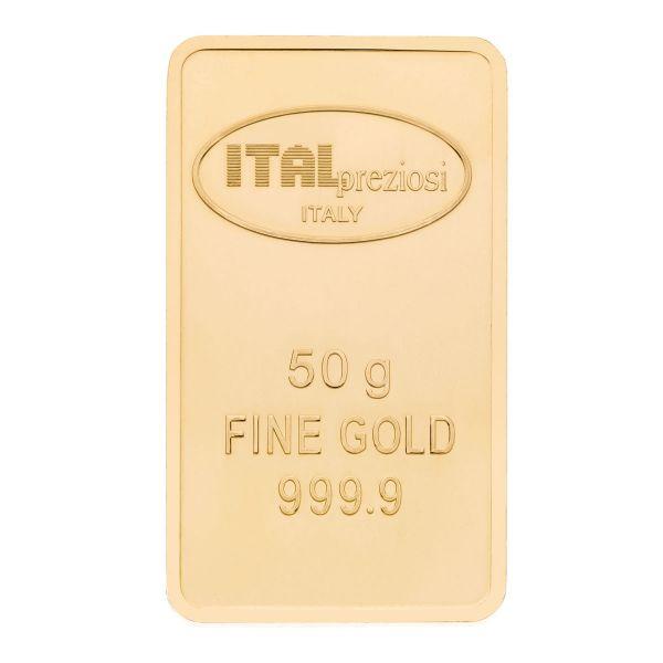 Lingotto Oro 50 grammi - verticale - Italpreziosi