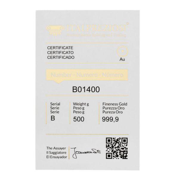 Lingotto Oro 500 grammi - certificato - Italpreziosi