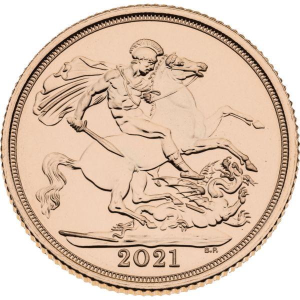 Sterlina oro Fior di Conio 2021 - fronte - Italpreziosi